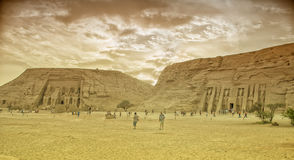 Abu Simbel in Egypt. Tone photographic film Royalty Free Stock Photography
