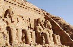 Abu Simbel - Egypte stock fotografie