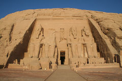 Abu Simbel Greater (Great) Temple - Statues of King Ramesses II (2nd) [Near Lake Nasser, Egypt, Arab States, Africa] Royalty Free Stock Images
