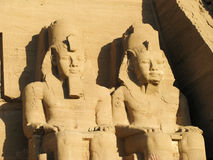 Abu Simbel heads,. Egypt, Africa Royalty Free Stock Photo
