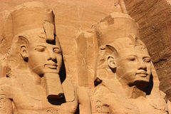 Abu Simbel heads, Egypt, Africa Royalty Free Stock Images