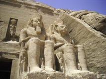 Abu simbel 2. Ingresso tempio abu si bel Egitto Royalty Free Stock Images