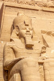 Abu Simbel-Koloss Stockbild
