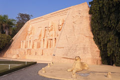 Abu Simbel in Mini Siam Park Stockfoto
