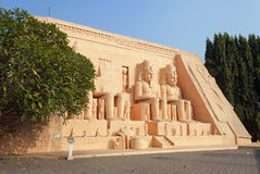 Abu Simbel in Mini Siam Park Stockbilder