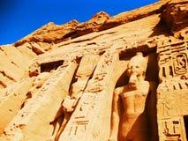 Abu Simbel - Nefertari Tempel stockfoto