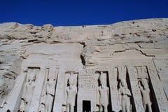 Abu Simbel Nefertari Temple av Hathor Royaltyfri Fotografi