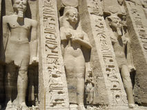 Abu simbel nefertari. Abu Simbel temple entrance of Nefertiti Stock Image