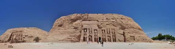 Abu Simbel - Panoramic. Ramses II Abu Simbel Temple, Egypt Royalty Free Stock Photography