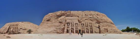 Abu Simbel - panoramique Photographie stock libre de droits