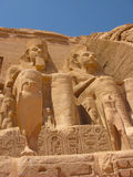 Abu Simbel Reliefs. Reliefs in the monument of Abu Simbel, Egypt Stock Images