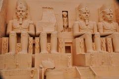 Abu Simbel Replica em Mini Siam em Pattaya fotografia de stock royalty free