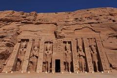 Abu Simbel Sanctuary, Egipto Imagen de archivo libre de regalías