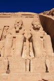 Abu Simbel Tempel, Ägypten Stockbilder
