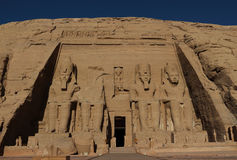 Abu Simbel-Tempel in Ägypten Stockfotos