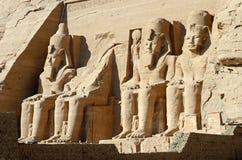 Abu Simbel Tempel Stockfotos