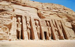 Abu simbel Tempel in Aswan Egypte stock afbeeldingen