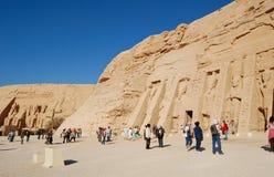 Abu Simbel tempel, Egypten Arkivfoton