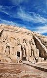 Abu Simbel tempel, forntida södra Egypten royaltyfri bild