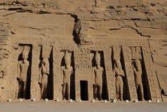 Abu Simbel tempel i Egypten Arkivfoton