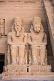 Abu Simbel temple. Abu Simbel. Details of Egyptian art. An example of the art of the pharaohs Royalty Free Stock Photos