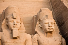 Abu Simbel temple. Abu Simbel. Details of Egyptian art. An example of the art of the pharaohs Stock Image
