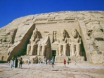 Abu Simbel temple Stock Photography