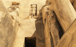Abu Simbel Temple. Three dimension illustration of Abu Simbel Temple of King Ramses II Royalty Free Stock Photography