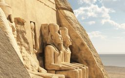 Abu Simbel Temple Royalty Free Stock Photography