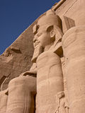 Abu Simbel temple. Statue of Ramesses II on the Abu Simbel temple, Egypt Stock Photo
