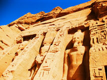 Abu Simbel - temple de Nefertari Photo stock