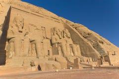 Abu Simbel Temple (Egypt). Abu Simbel Temple of King Ramses II (Egypt Royalty Free Stock Images