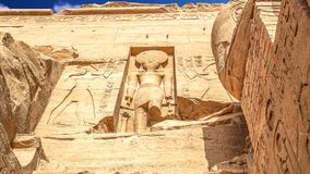 Abu Simbel. The temple of Abu Simbel in Egypt stock video