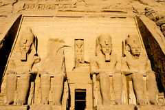 Abu Simbel temple in Egypt. Detail of Abu Simbel temple, in lake Nasser, Egypt Stock Photo