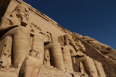 Abu Simbel Temple in  Egypt Royalty Free Stock Images