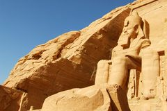 Abu Simbel Temple in Egypte Royalty-vrije Stock Afbeelding