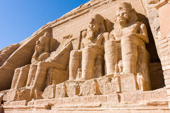 Abu Simbel Temple, Egypte. Afrika Royalty-vrije Stock Afbeelding
