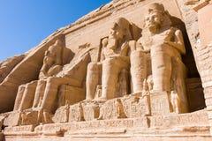 Abu Simbel Temple Egypten. Afrika royaltyfri bild