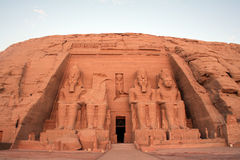 Abu Simbel - Temple of King Ramesses II. Abu Simbel is an archaeological site comprising two massive rock temples in southern Egypt on the western bank of Lake Stock Photos