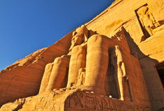 Abu Simbel Temple of King Ramses II. Stock Image