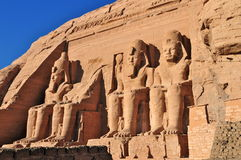 Abu Simbel Temple of King Ramses II. Royalty Free Stock Photography