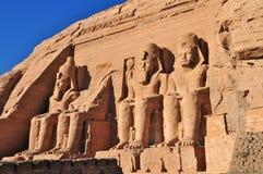 Abu Simbel Temple of King Ramses II. Royalty Free Stock Photography