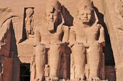 Abu Simbel Temple of King Ramses II. Royalty Free Stock Image