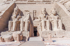 Abu Simbel Temple of King Ramses II Royalty Free Stock Images