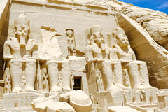 Abu Simbel Temple of Ramesses II, Egypt.  Stock Images