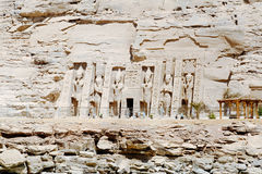 Abu Simbel Temple of Ramesses II, Egypt.  Royalty Free Stock Photos
