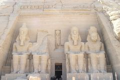 Abu Simbel Temple - Ramses II. The 4 statues of  pharaoh Ramses II at Abu Simbel Temple, Egypt, Africa Stock Photos