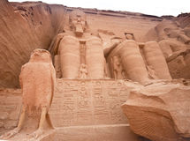 Abu Simbel temple of Ramses II, Egypt. Temple of Ramses II  Built in 1274-1244 BC in Abu Simbel, Egypt.  Huge statues guarding the southern borders of Egypt Stock Photos