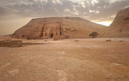 Abu Simbel temple of Ramses II, Egypt. Stock Photo
