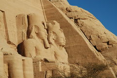 Abu Simbel Temple. Statues of Ramses II at Abu Simbel, Egypt Royalty Free Stock Photography